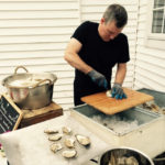 Ian of 111 Maine Catering | Oyster Shucking @ Hardy Farm